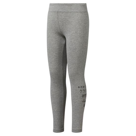 Reebok - Girls' Classics Leggings Medium Grey Heather DH3317