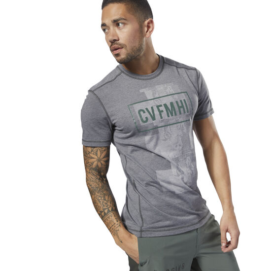 Reebok - Reebok CrossFit Burnout SS Tee - Solid Coal D94898