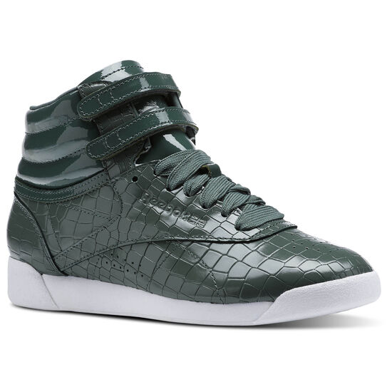 Reebok - Freestyle HI CRACKLE Chalk Green/Pragmatic Teal/White CN2194