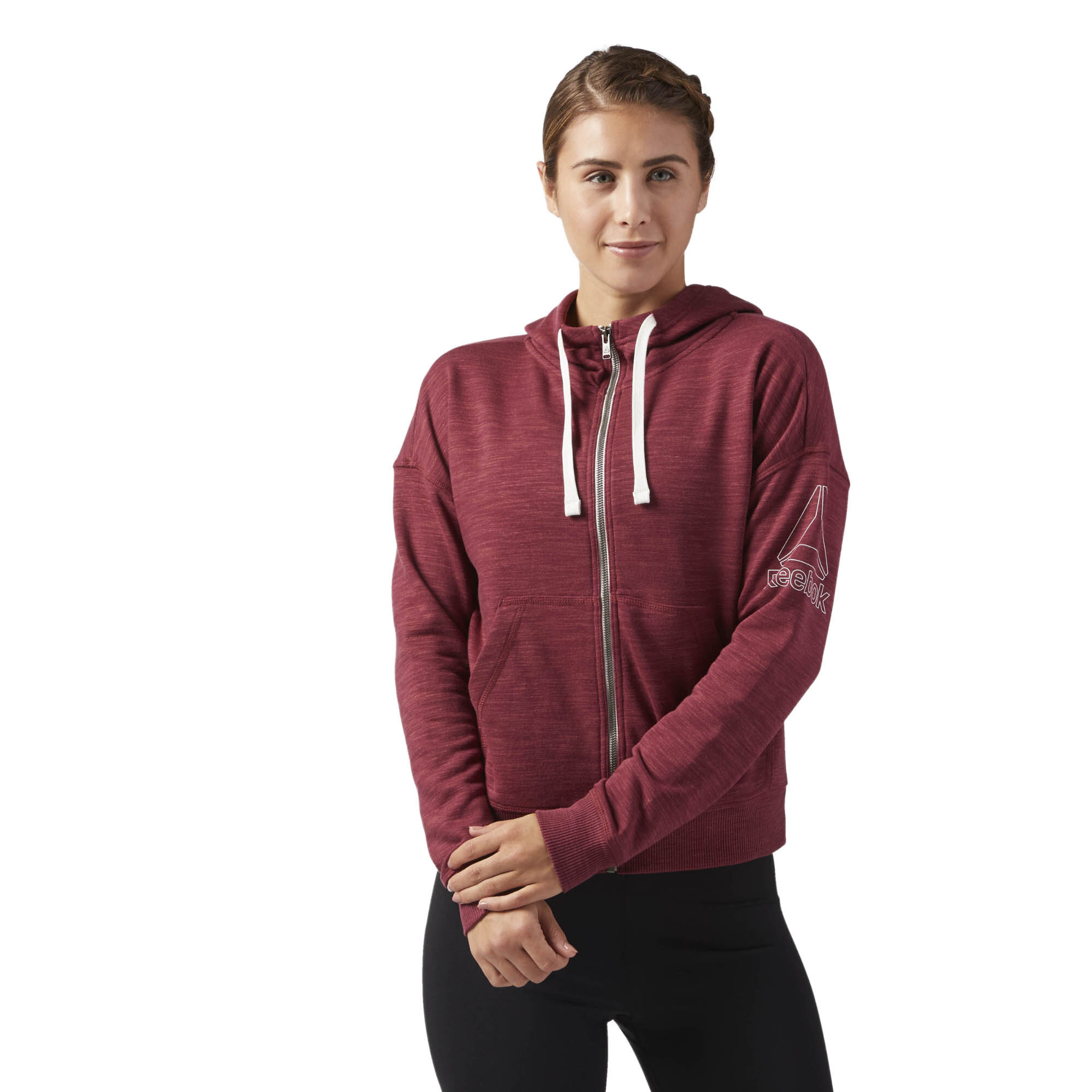 Reebok - Reebok Training Essentials Full Zip Hoodie Urban Maroon CF8617.  Write a Review. Women Fitness \u0026 Training