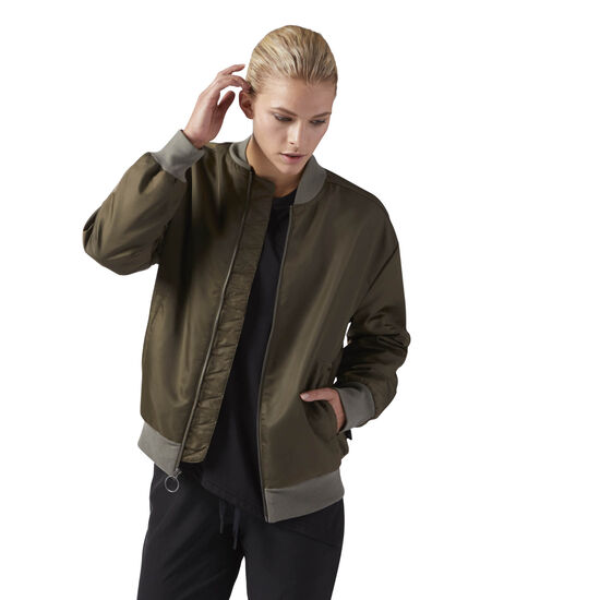 Reebok - Training Supply Woven Bomber Jacket Army Green CF8661