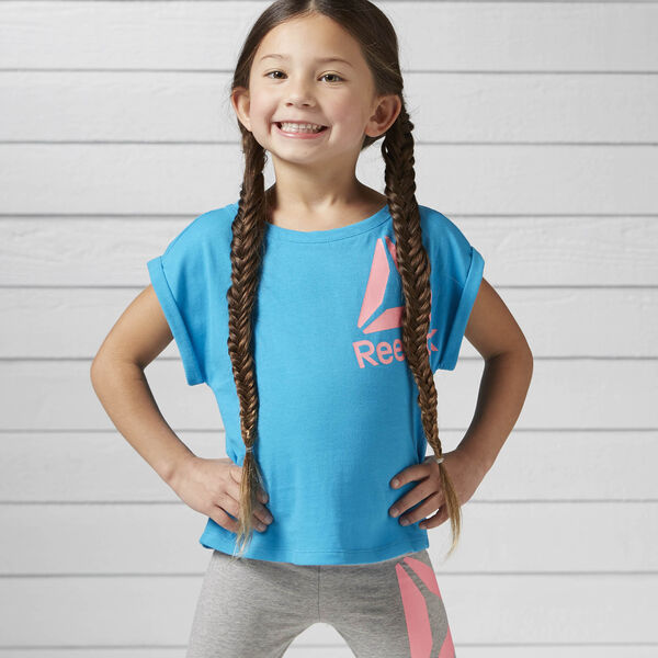 Girls Essentials Tee Blue BK4279