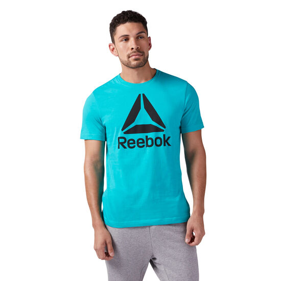 Reebok - Stacked Logo Tee Turquoise/Bright Emerald CF3904
