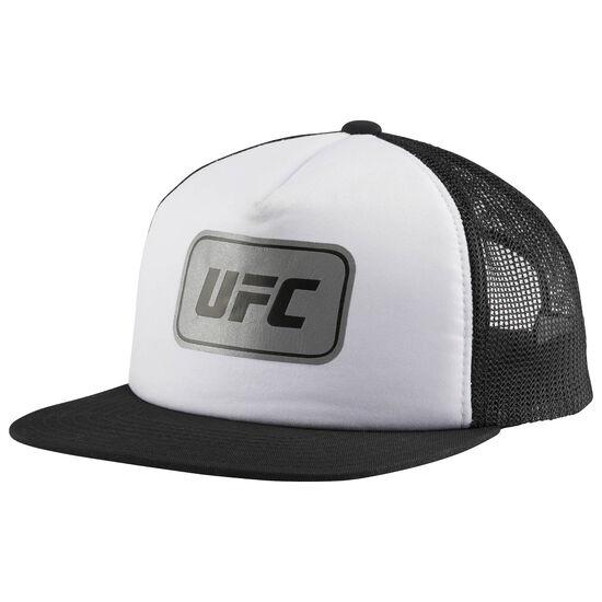 Reebok - UFC Ultimate Fan Flat Brim Mesh Snapback Cap White/Black BW5653
