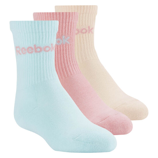 Reebok - Crew Sock - 3pair Multicolor/Squad Pink/Desert Dust/Blue Lagoon CD6537