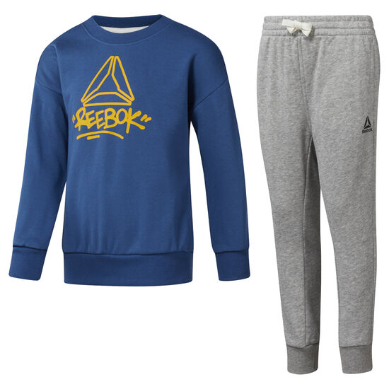 Reebok - Boys' Essentials French Terry Tracksuit Bunker Blue DH4339