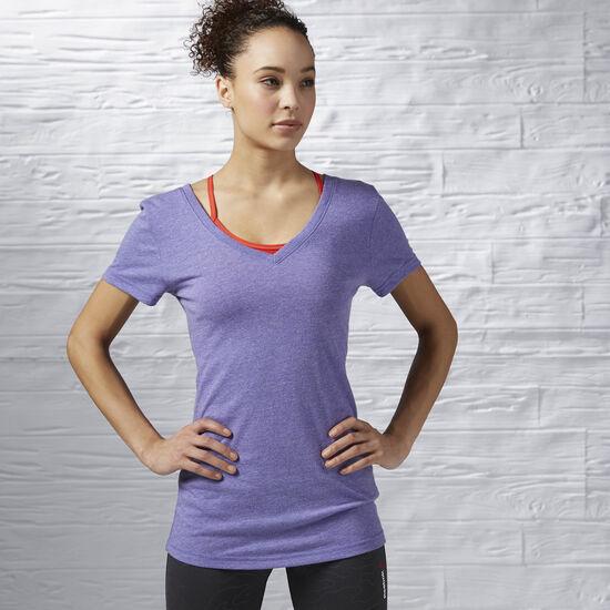 Reebok - Reebok V-Neck T-Shirt Ultimate Purple AP9651