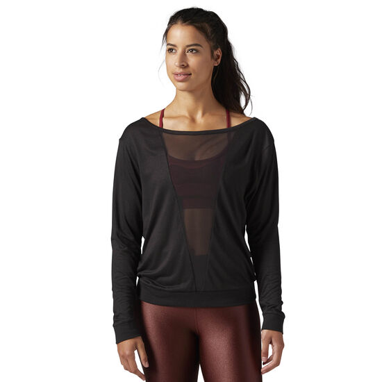 Reebok - Mesh Long Sleeve Shirt Black BQ5838