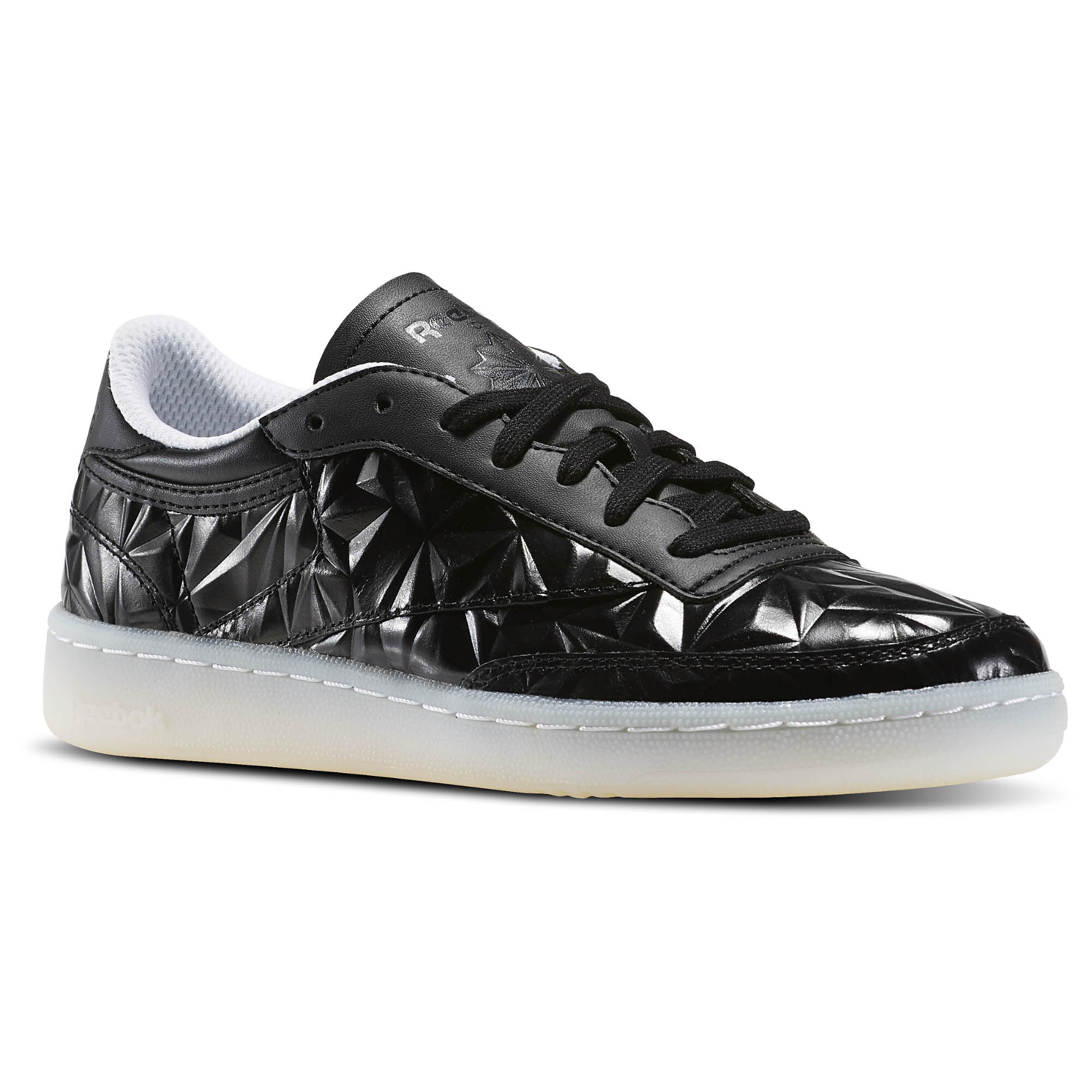Reebok  Classic Club C 85 Hype Metallic Black White