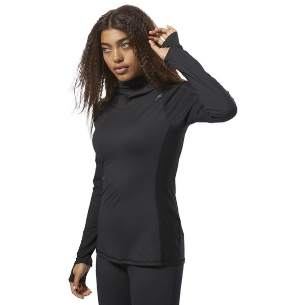 Thermowarm Touch Scuba Hoodie Black CY2448