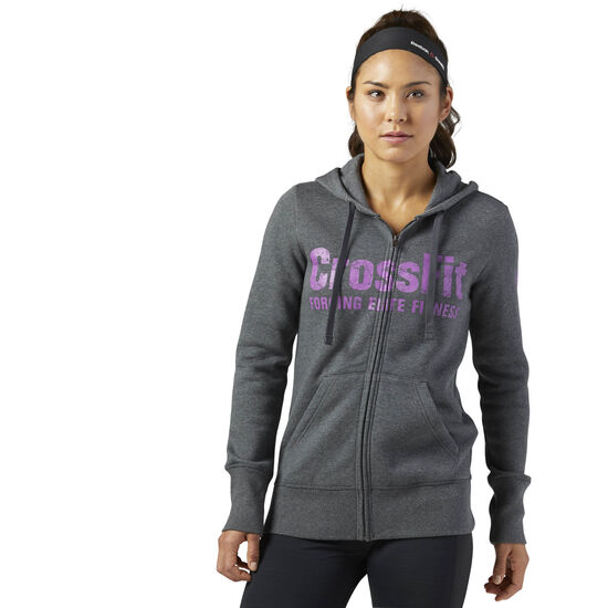 Reebok - Reebok CrossFit Full Zip Hoodie Dark Grey Heather BP9192