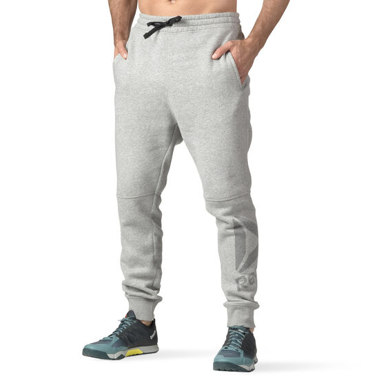 Reebok - Workout Ready Big Logo Cotton Pant Medium Grey Heather B49896