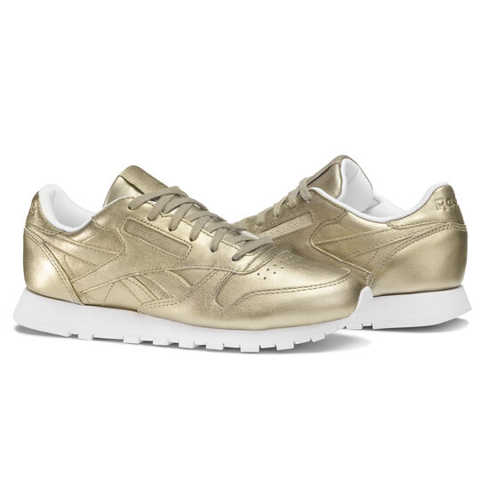 Reebok - Classic Leather Melted Metals Gold/Pearl Met-Grey Gold/White BS7898