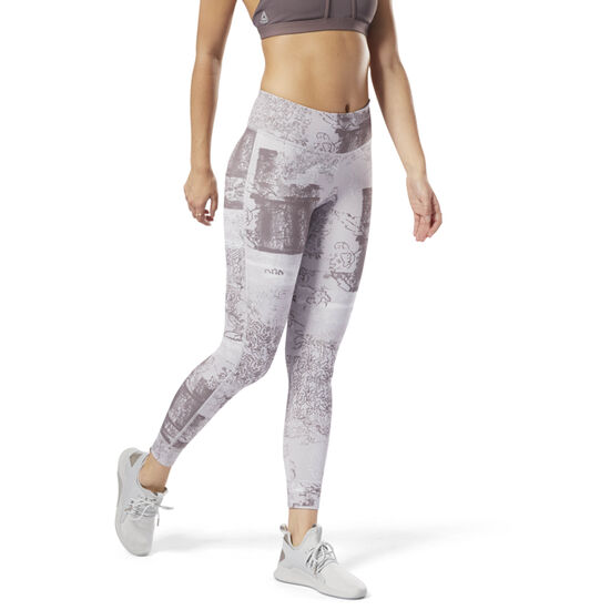 Reebok - Lux Bold Tights - Dismantled Flora Lavender Luck CY4977