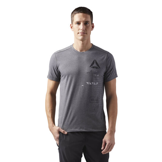 Reebok - Speedwick Graphic Tee Dark Grey Heather CF3744