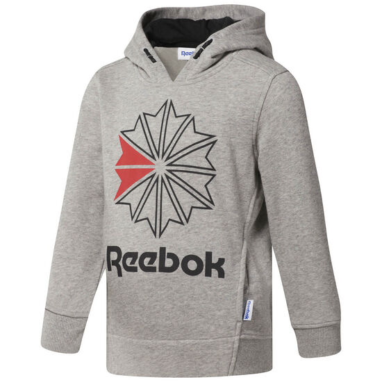 Reebok - Reebok Classics Logo Hoodie Medium Grey Heather/Black CG0320