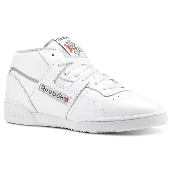 Reebok - Workout Clean Mid Archive-White/Carbon/Grey/Red CN3639