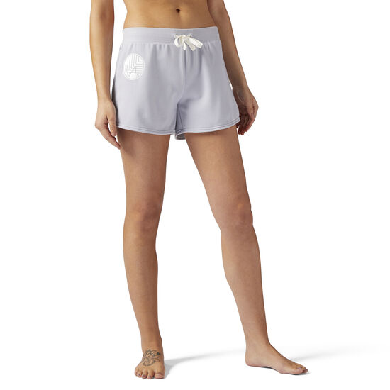 Reebok - LES MILLS French Terry 10 cms Shorts Cloud Grey CE6700