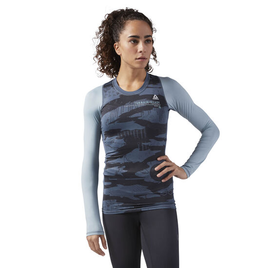 Reebok - Speedwick Long Sleeve Compression T-Shirt Paynes Grey CD6000