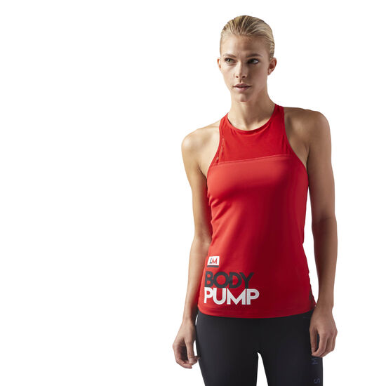 Reebok - LES MILLS BODYPUMP LONG BRA PADDED Primal Red CD6220
