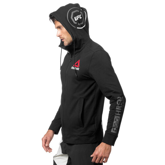 Reebok - UFC Fight Night Blank Walkout Hoodie Black/Chalk CD8585