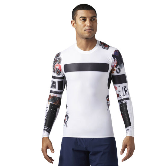 Reebok - Reebok CrossFit Compression Long Sleeve Shirt White BS1586