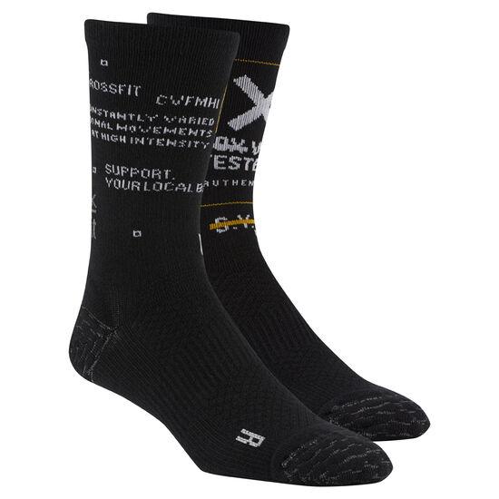 Reebok - Reebok CrossFit Men Engineered Crew Socks Black CZ9922