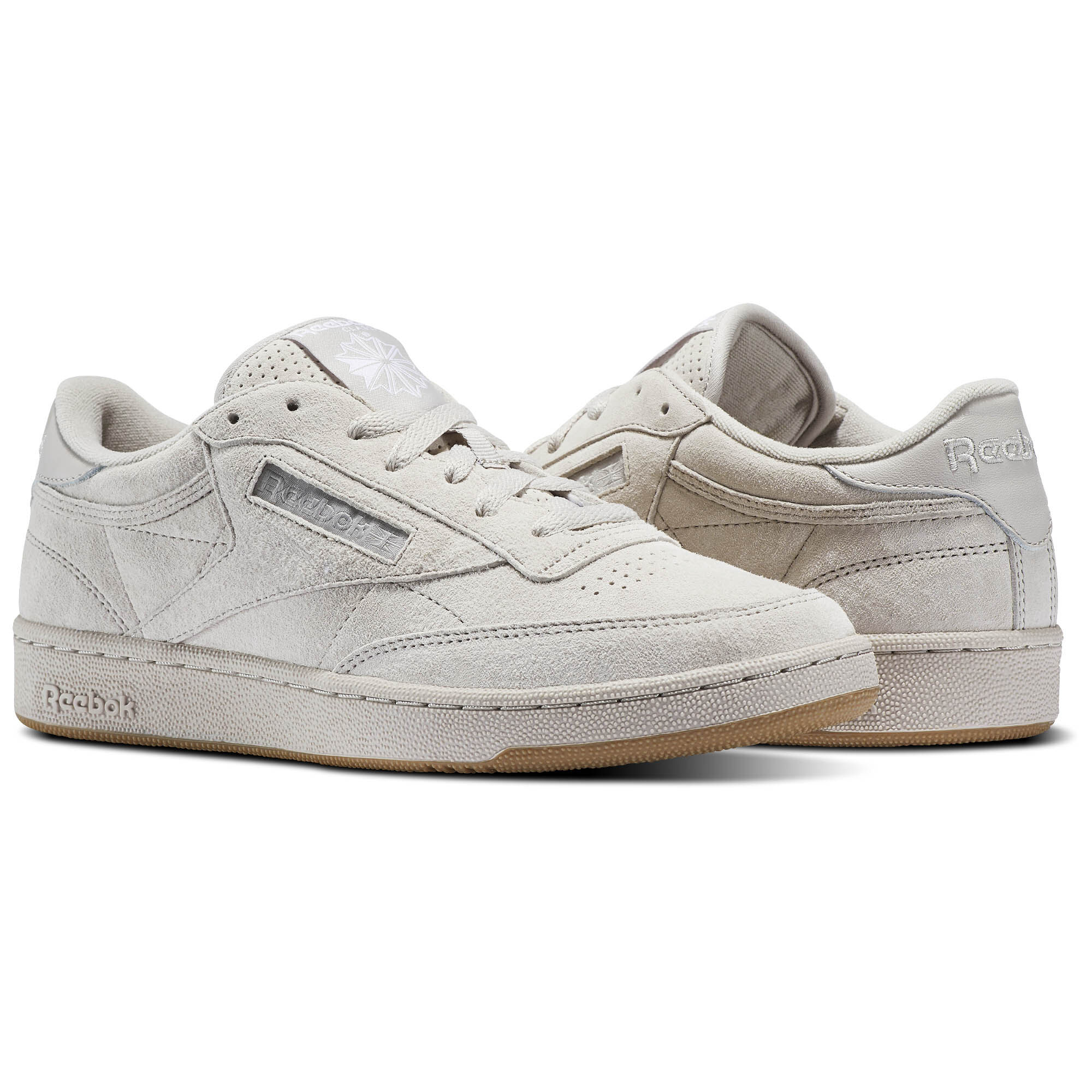 Classic Club C 85 Trainers In White And Gum - White Reebok 8ZKKv8HAT6