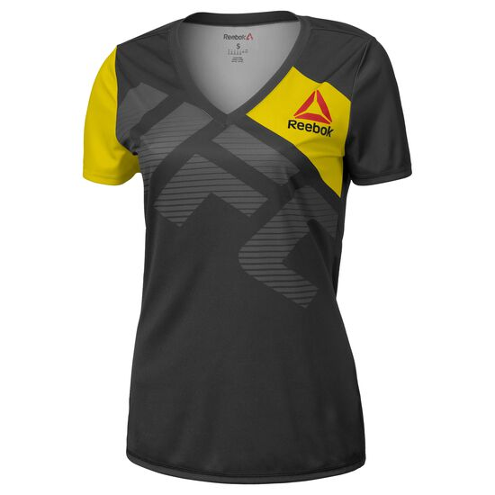 Reebok - UFC Fight Kit Walkout Jersey Black/Blaze Yellow AZ9064
