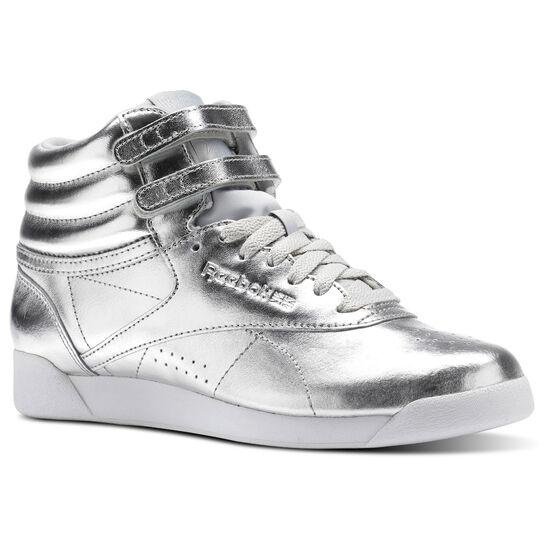 Reebok - Freestyle Hi Metallic Silver Metallic/Steel/White BS9944