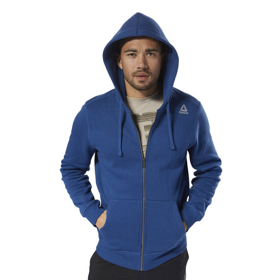 Reebok - Elements Fleece Full Zip Hoodie Bunker Blue D94203
