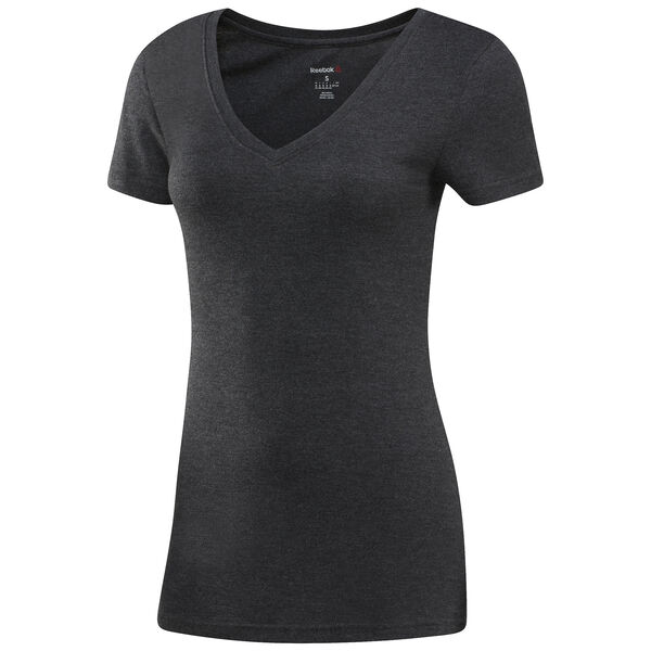 Reebok V-Neck T-Shirt Black AJ8013