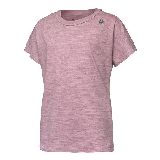 Reebok - Girls Training Essentials Marble Melange T-Shirt Twisted Berry DH4360