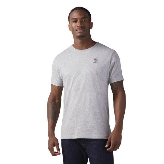 Reebok - Starcrest Heritage Logo T-Shirt Medium Grey Heather CE5083
