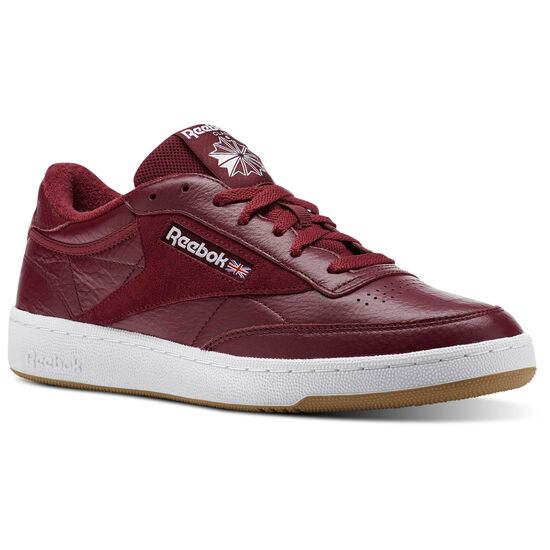 Reebok - Club C 85 ESTL Urban Maroon/White/Washed Blue CM8792