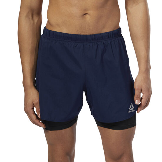 Reebok - Running 2-1 Shorts Collegiate Navy D92938