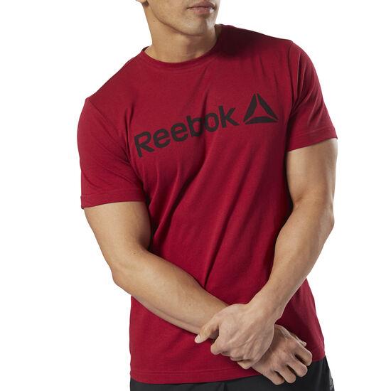 Reebok - Reebok Linear Read Tee Cranberry Red DH3782