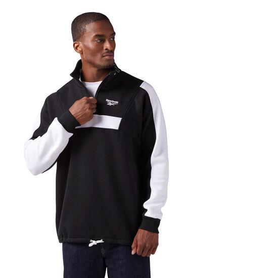 Reebok - Quarter Zip Fleece Sweatshirt Black CE4993