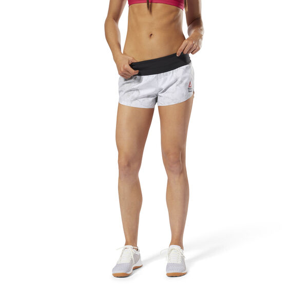 Reebok CrossFit KNW Shorts Stone White DN6191
