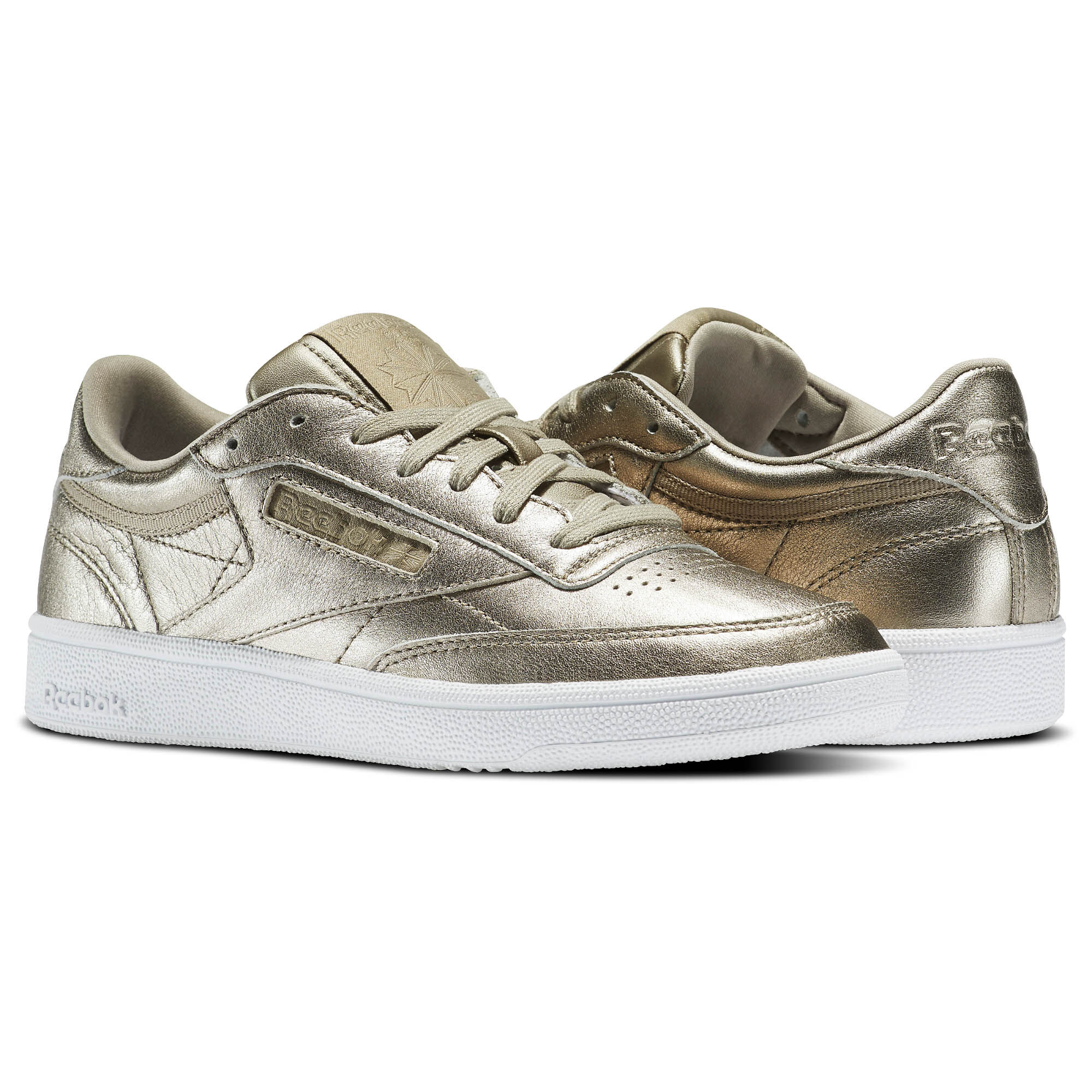 Reebok Sport Chaussures Classic Leather W Melted Metals Or Reebok Sport soldes