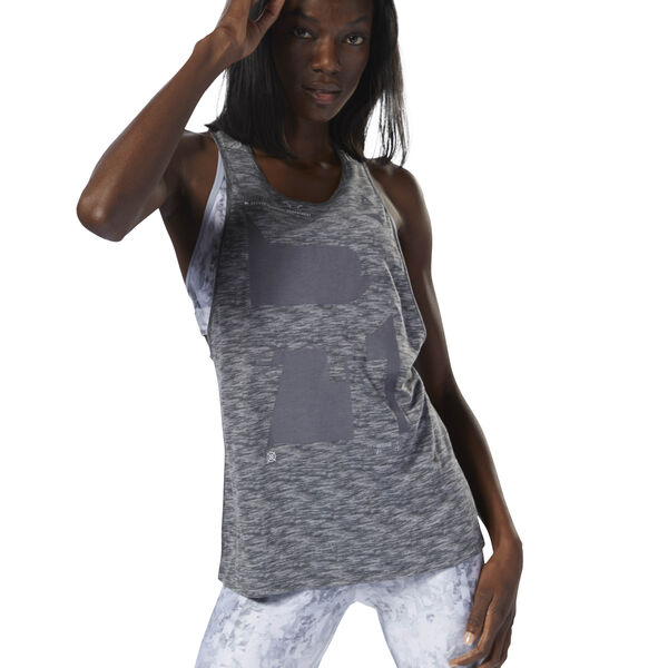 Running Burnout Trend Tank Grey D78728