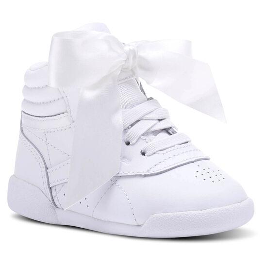 Reebok - Freestyle HI Satin Bow White/Skull Grey CN2028