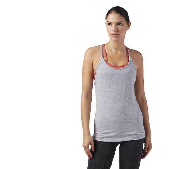 Reebok - Recycled Racerback Tank Medium Grey Heather CF8699