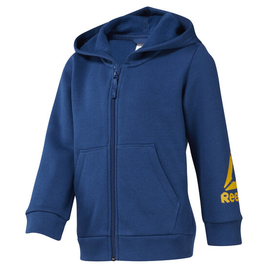 Reebok - Boys Training Essentials Fullzip Fleece Hoody Bunker Blue DJ3083