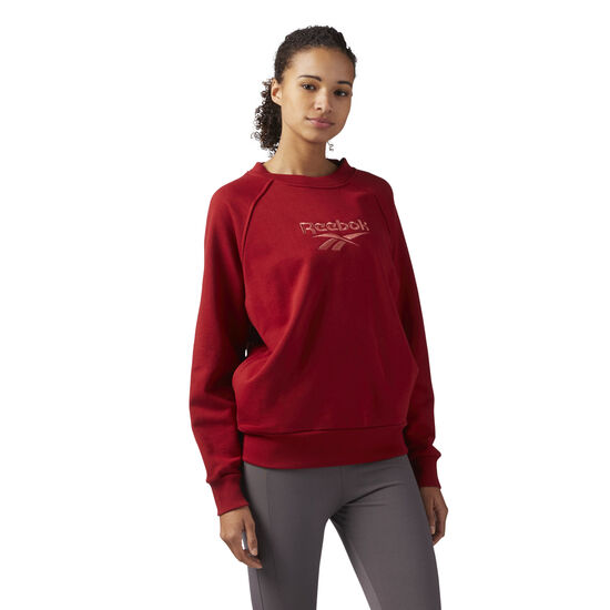 Reebok - Cotton Cover-Up Sweatshirt Rich Magma CF3948
