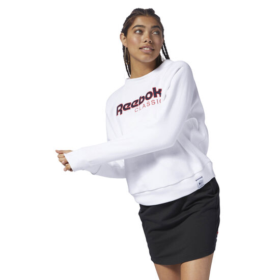 Reebok - Classics Big Logo Fleece Crew White DH1326