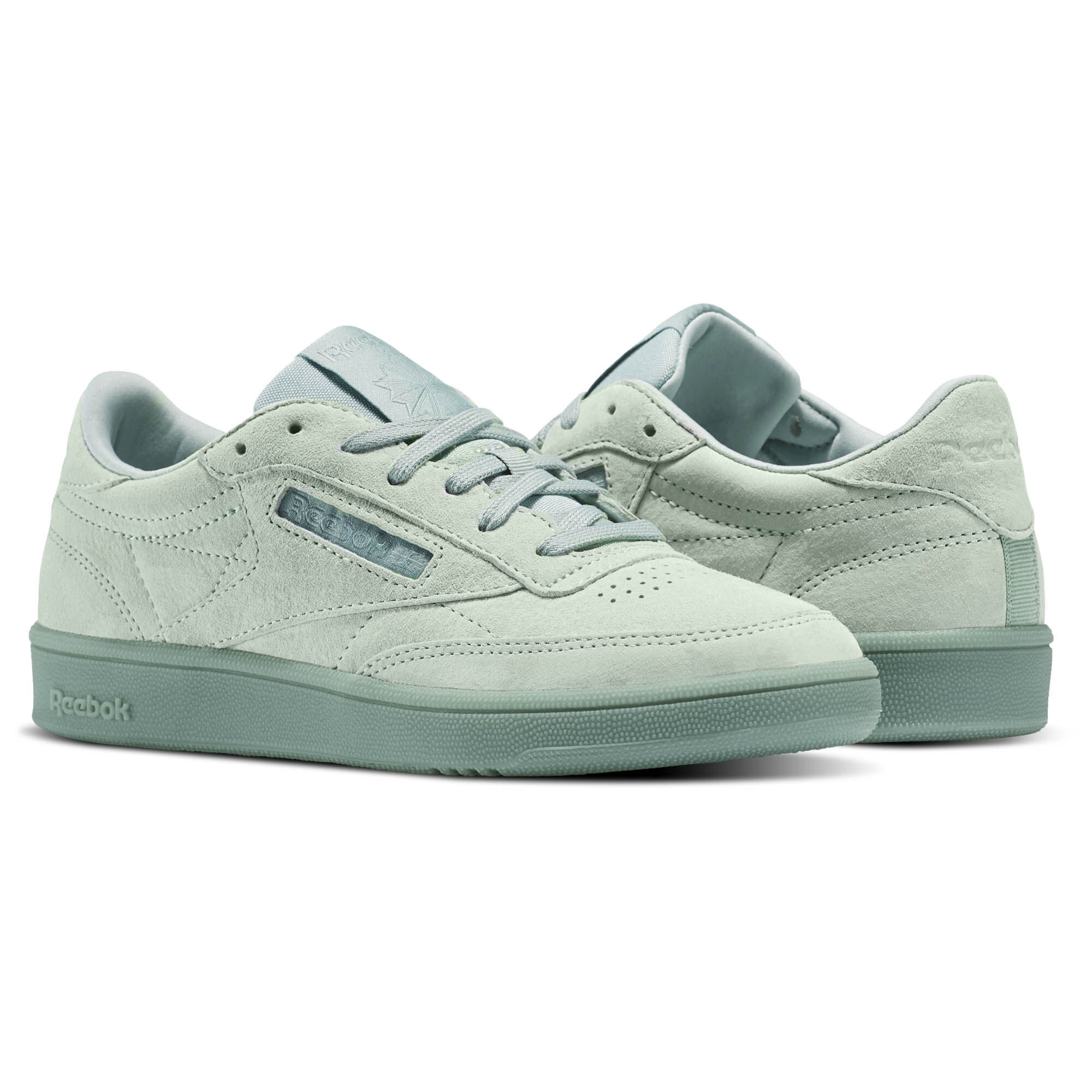 Reebok Classic CLUB C 85 LACE - Trainers - seaside grey/white
