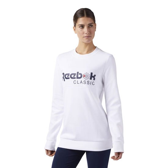 Reebok - Reebok Classics Iconic crew neck Sweatshirt White CD8236