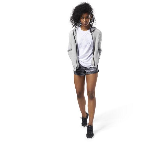 Reebok - Quik Cotton Full Zip Hoodie Medium Grey Heather CY2358