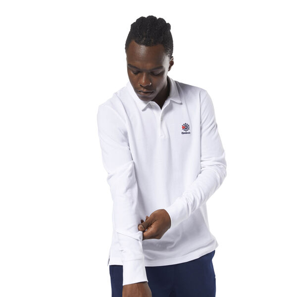 Classics Foundation Long Sleeve Polo White DH2058